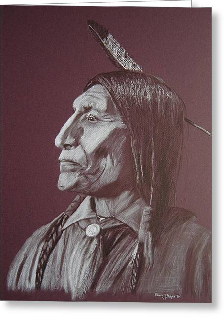 Chief Wolf Robe Greeting Card
