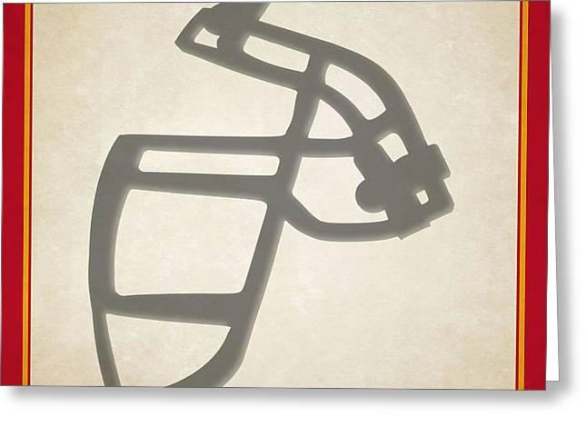 Chiefs Face Mask Greeting Card
