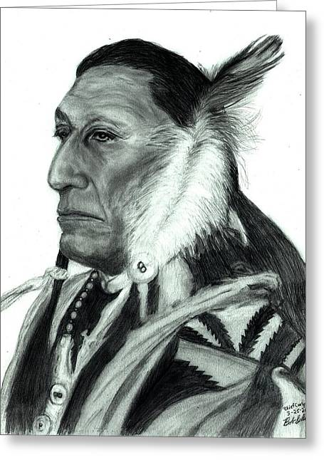 Chief Curly Bear Greeting Card by Bob Schmidt