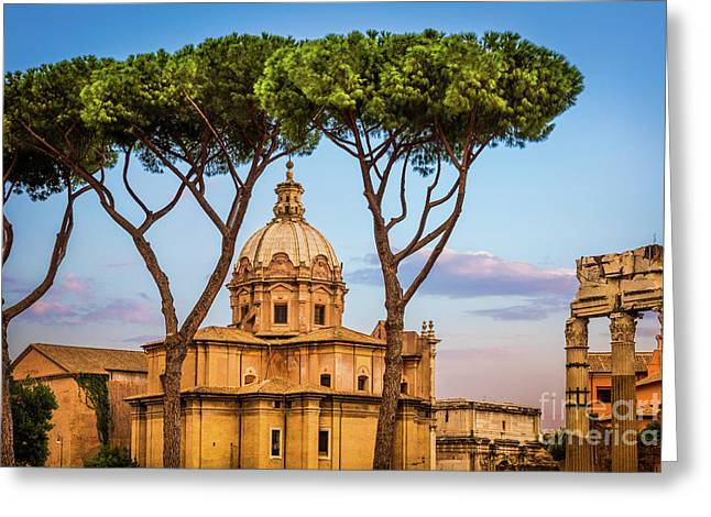 The Pines Of Rome Greeting Card by Inge Johnsson