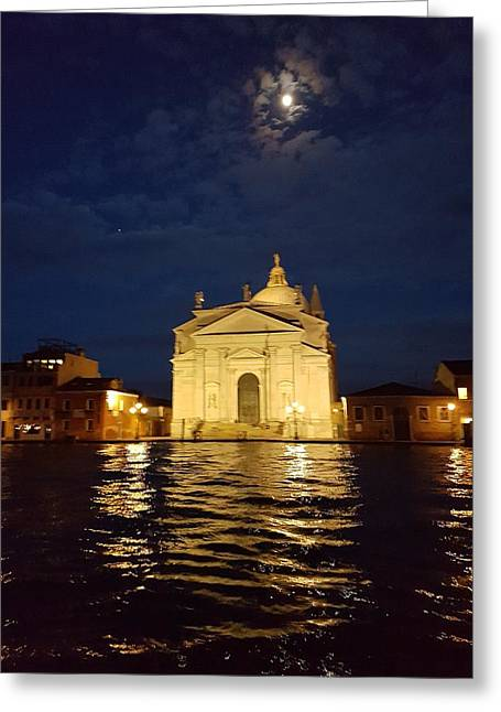 Chiesa Del Santissimo Redentore  Greeting Card by Katherine Pearson