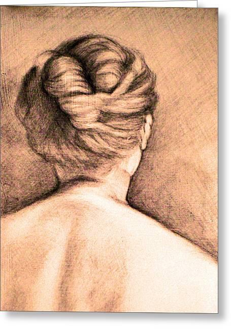 Chignon Greeting Card by Karen Coggeshall