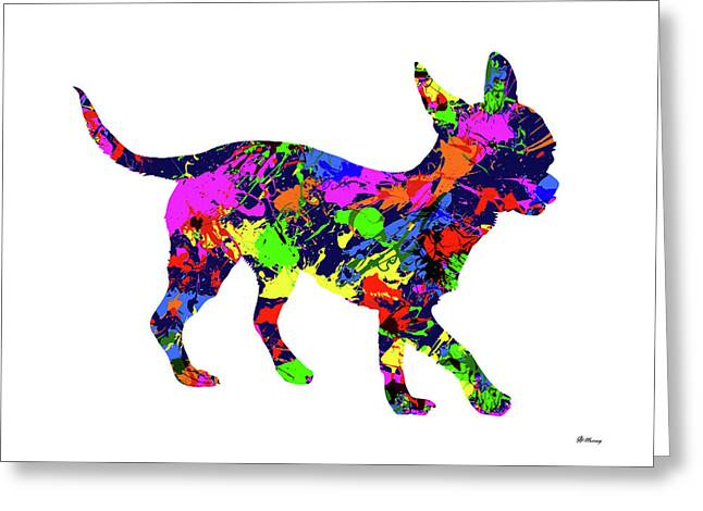 Chihuahua 2 Paint Splatter Greeting Card