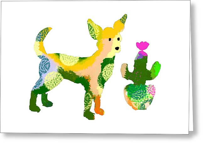 Chihuahua And Cactus Greeting Card