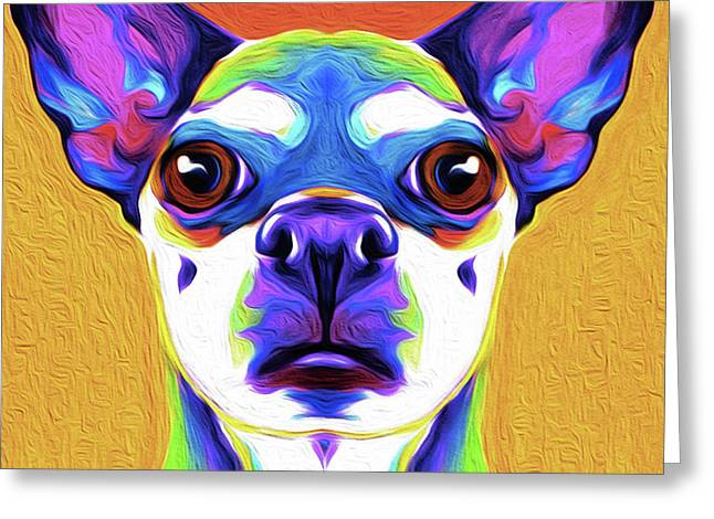 Chihuahua By Nixo Greeting Card