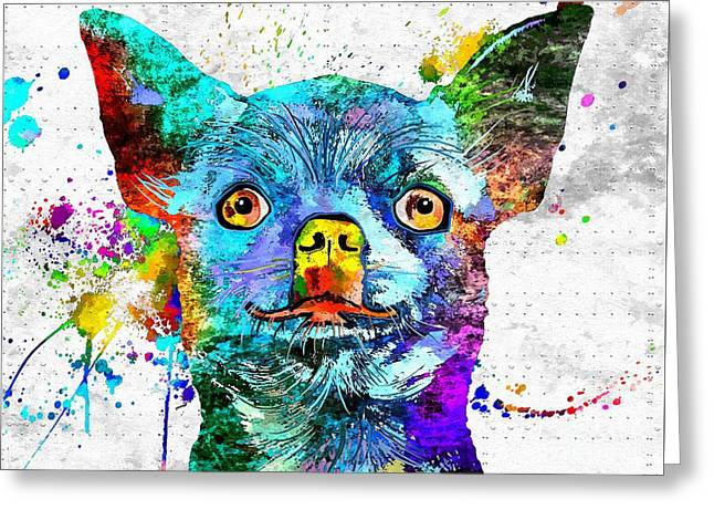 Chihuahua Grunge Greeting Card by Daniel Janda