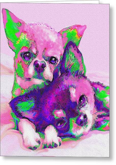 Chihuahua Love Greeting Card by Jane Schnetlage