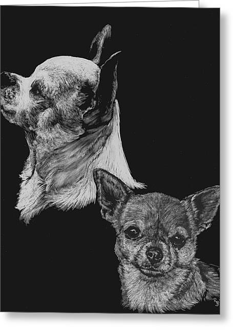 Chihuahua Greeting Card by Rachel Hames
