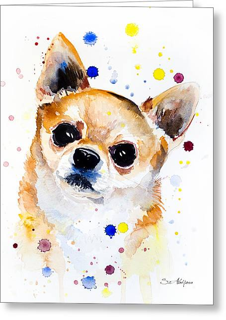 Chihuahua Greeting Card by Slavi Aladjova