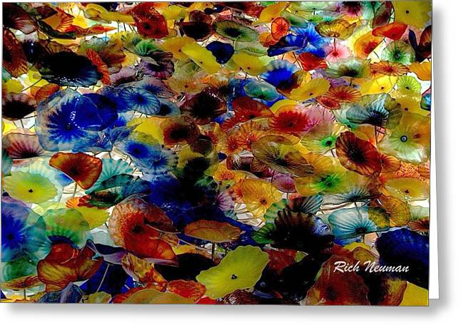 Chihuly Flowers Greeting Card