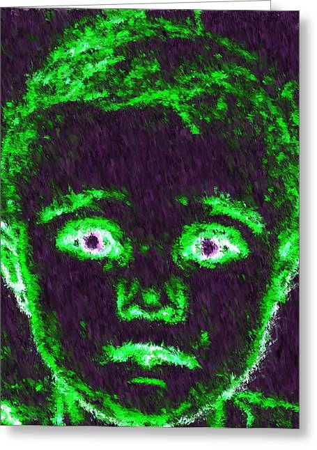 Child Aura Greeting Card by Maribel McIntosh