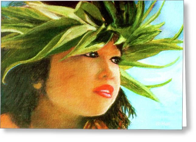 Child Keiki In Hawaiian No# 84 Greeting Card by Donald k Hall