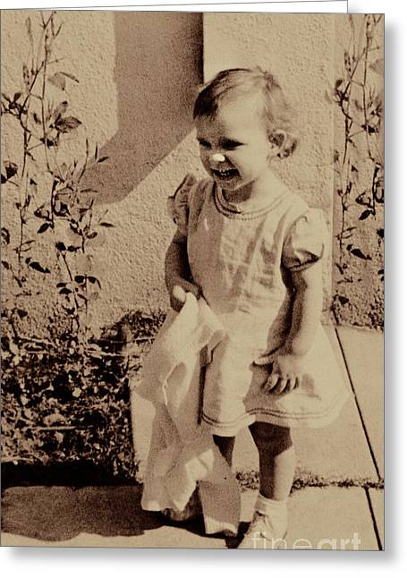 Greeting Card featuring the photograph Child Of  The 1940s by Linda Phelps