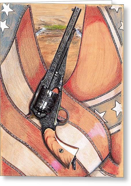Remington Drawings Greeting Cards - Child of War Greeting Card by Ricardo Reis