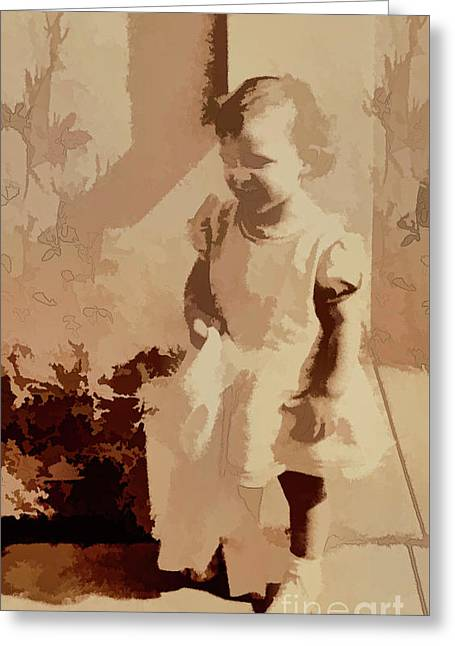 Greeting Card featuring the photograph Child Of World War 2 by Linda Phelps