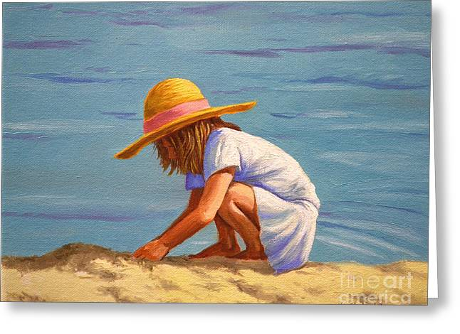 Child Playing In The Sand Greeting Card