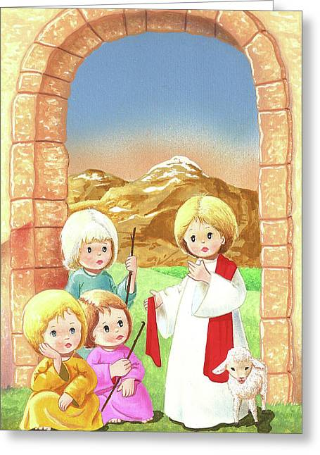 Child Shepherds Greeting Card