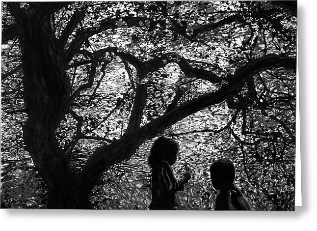 Child Silhouettes Greeting Card