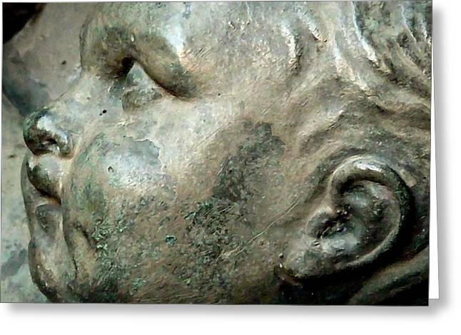 Child Statue Detail II Greeting Card by Patricia Strand
