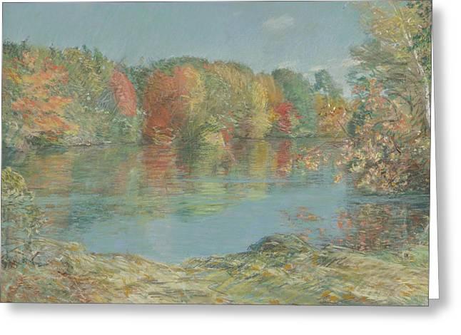 Childe Hassam 1859-1935 Walden Pond Greeting Card