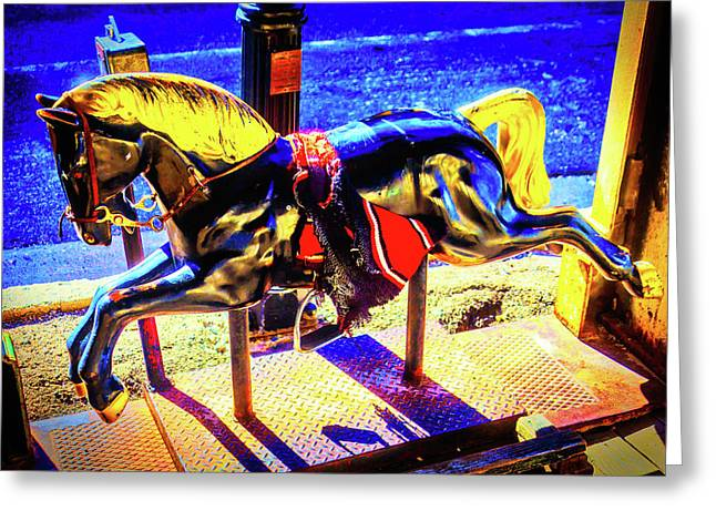 Childhood Horse Ride Greeting Card by Garry Gay