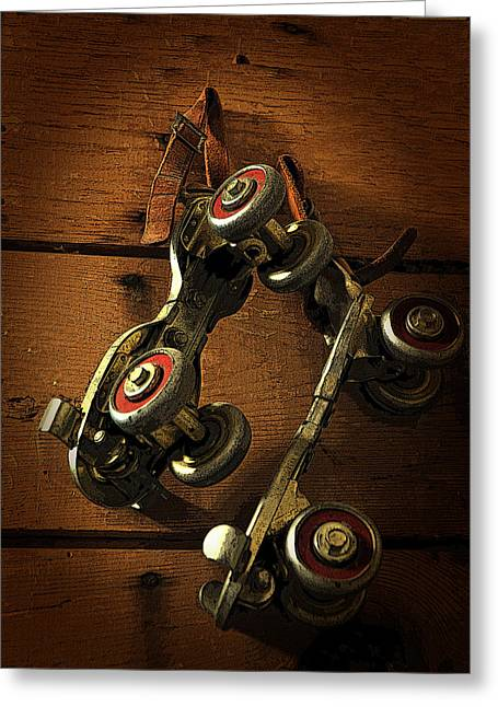 Antique Skates Greeting Cards - Childhood Memories Greeting Card by Fran Riley