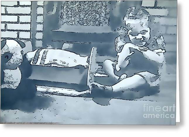 Greeting Card featuring the photograph Childhood Memories by Linda Phelps