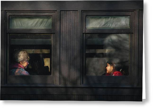Children - Generations Greeting Card by Mike Savad