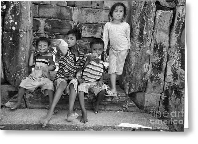 Children Angkor Wat  Greeting Card