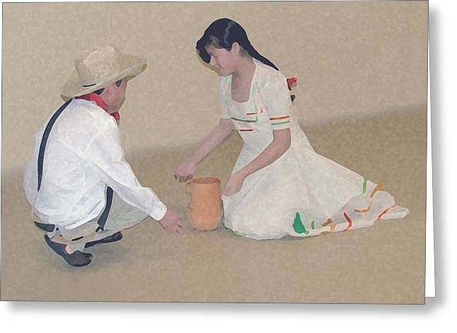Playing Digital Greeting Cards - Children Playing Greeting Card by Robert Meanor