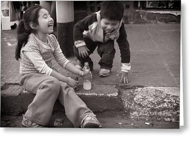 Children Greeting Card by Tarek Charara