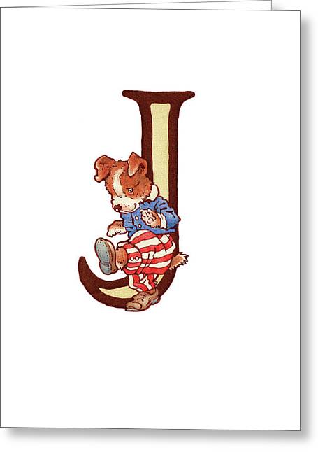 Children's Letter J Greeting Card