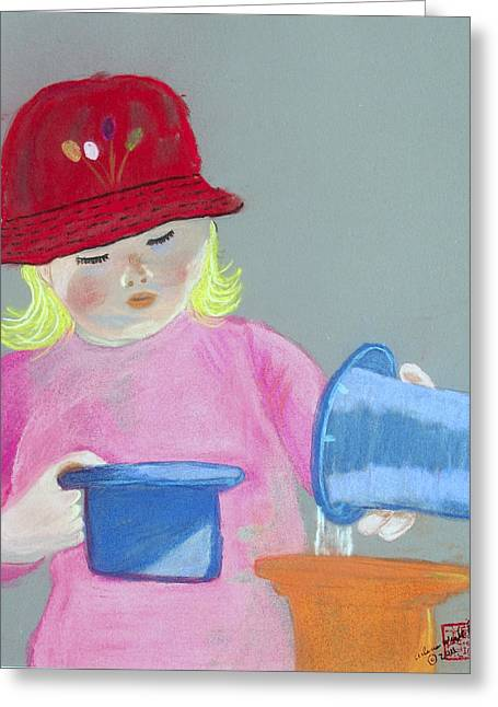 Watercolour Pastels Greeting Cards - Childs Play Greeting Card by Arlene  Wright-Correll