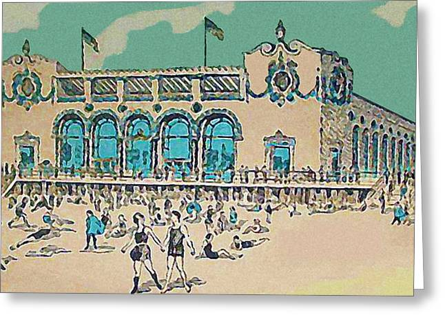 Child's Restaurant On The Coney Island Boardwalk 1920 Greeting Card