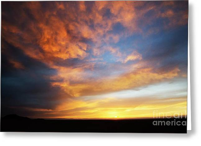 Chile Alto Plano Sunset Greeting Card