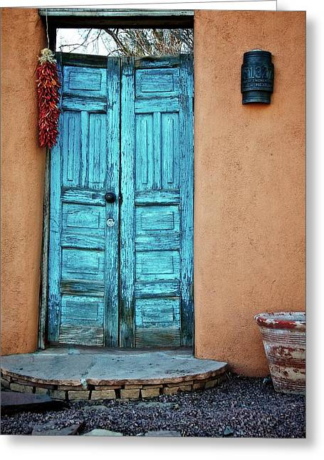 Chile Doors Greeting Card