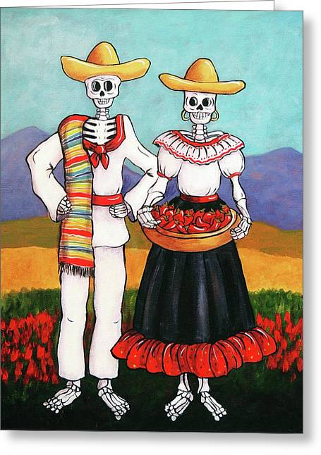 Chile Farmers Greeting Card by Candy Mayer