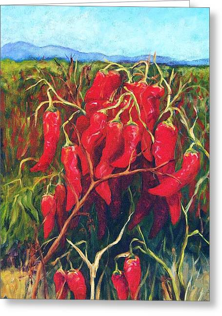 Chile Field Greeting Card by Candy Mayer