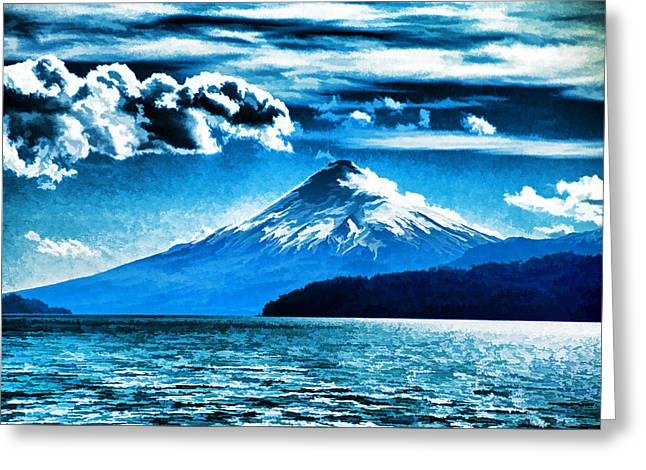 Chilean Volcano Greeting Card by Dennis Cox