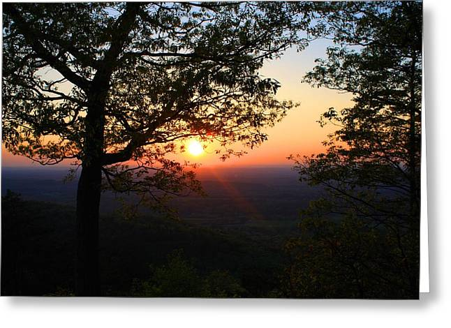 Greeting Card featuring the photograph Chilhowee Sunset by Kathryn Meyer