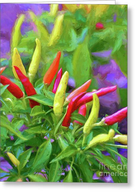Greeting Card featuring the photograph Chili Pepper Art by Kerri Farley