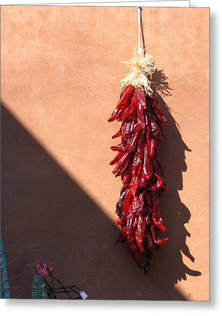 Chili Peppers Greeting Card by Denise Keegan Frawley