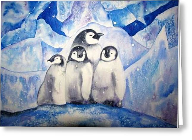 Greeting Card featuring the painting Chill Out by Martha Ayotte