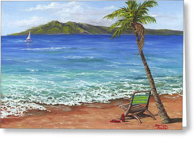 Greeting Card featuring the painting Chillaxing Maui Style by Darice Machel McGuire