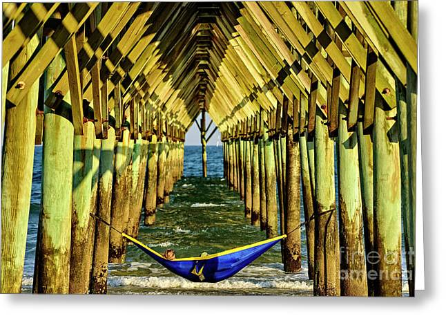 Greeting Card featuring the photograph Chillin by DJA Images