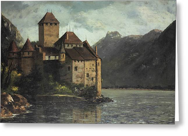 Chillon Castle Greeting Card by Gustave Courbet