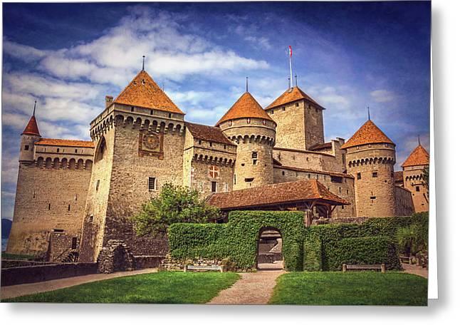 Chillon Castle Montreux Switzerland  Greeting Card