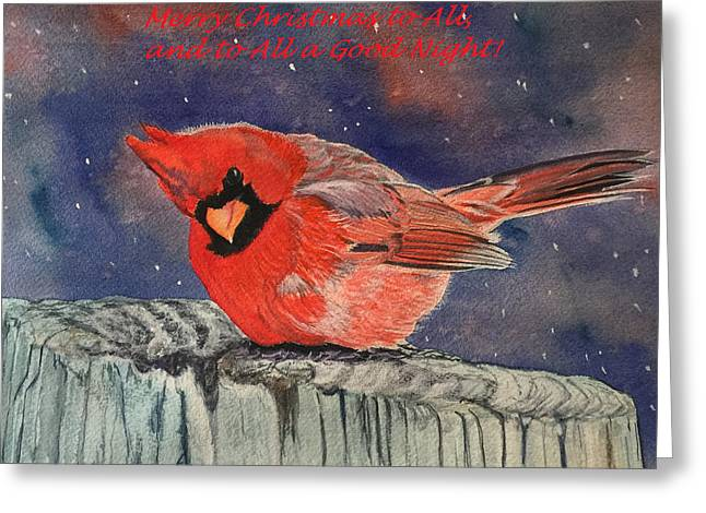 Chilly Bird Christmas Card Greeting Card