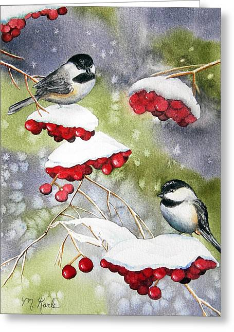 Chilly Chickadees Greeting Card