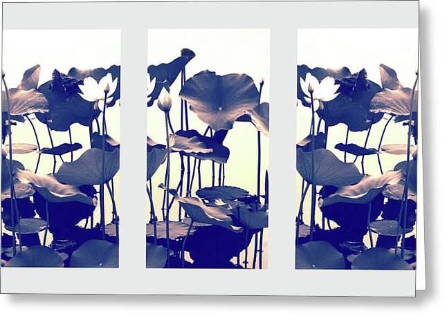 Chimera Triptych Greeting Card by Jessica Jenney
